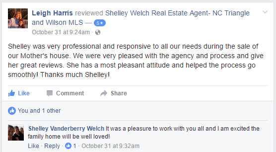 Bailey NC Home Seller Review of Fonville Morisey - Five County Specialists Realtor Shelley Welch